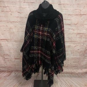 Charlie Paige sweater poncho  cowl neck OS